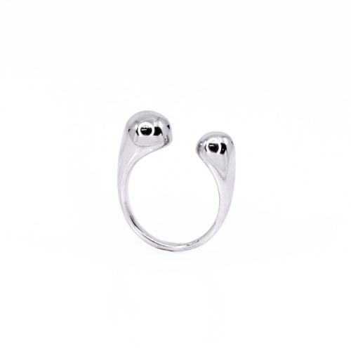bold drop ring _ gold, silver